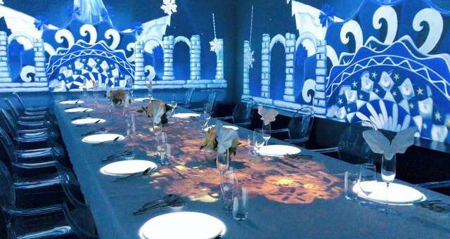 与音乐光影餐厅