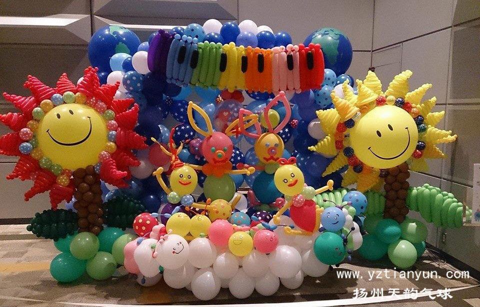 北京氦气球装饰_2014日本jabn气球艺术大赏-大型组作品欣赏图片